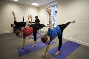 A yoga class at the Natural Health Centre